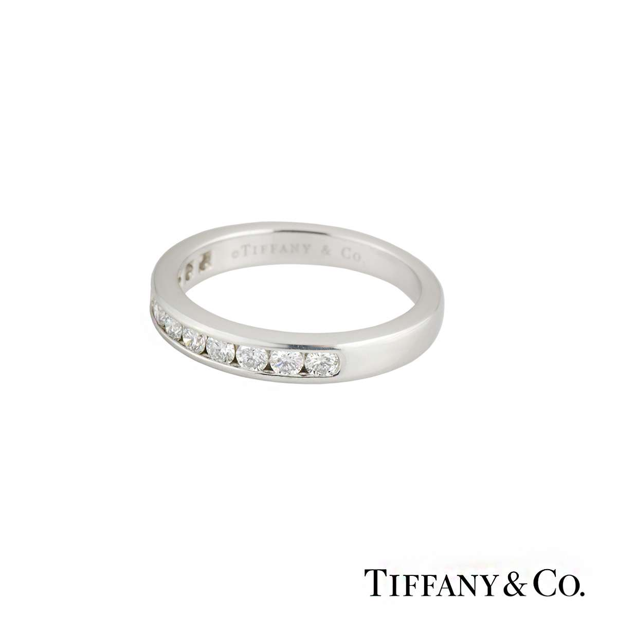 Tiffany Amp Co Round Brilliant Cut Diamond Half Eternity
